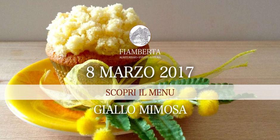 Giallo Mimosa, il nostro menu per la festa della Donna!